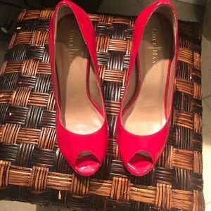 Cole Haan peep toe shoes